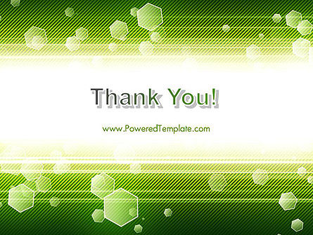 Tech Green Background with Hexagons PowerPoint Template Slide 20