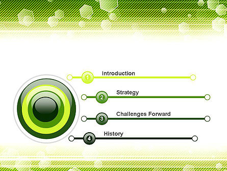 Tech Green Background with Hexagons PowerPoint Template Slide 3