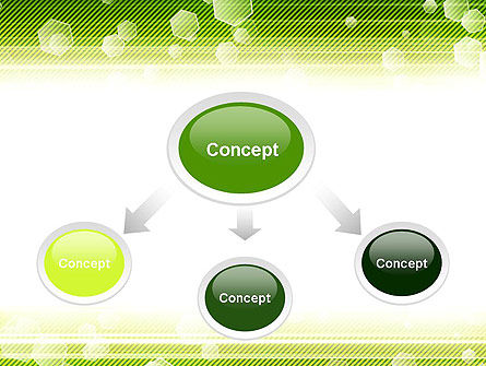 Tech Green Background with Hexagons PowerPoint Template, Slide 4, 13893, Abstract/Textures — PoweredTemplate.com