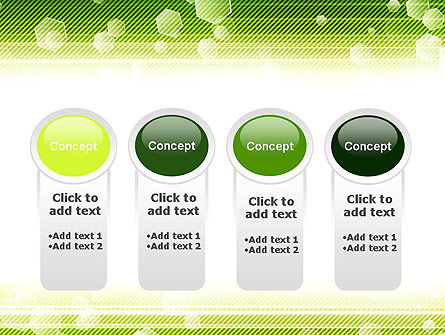 Tech Green Background with Hexagons PowerPoint Template Slide 5