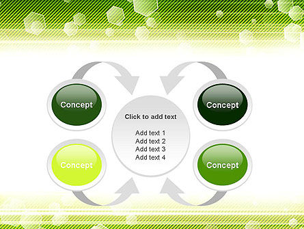 Tech Green Background with Hexagons PowerPoint Template Slide 6