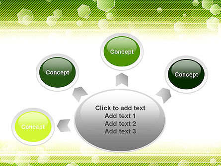 Tech Green Background with Hexagons PowerPoint Template Slide 7