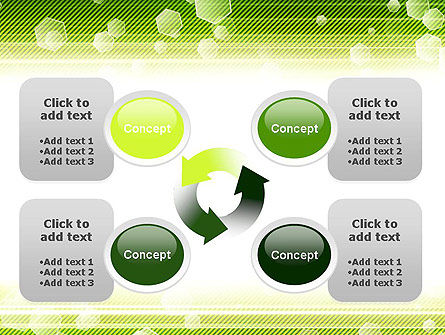 Tech Green Background with Hexagons PowerPoint Template Slide 9