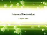 Abstract/Textures: Tech Green Background with Hexagons PowerPoint Template #13893