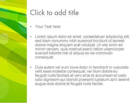 Green Mood Abstract PowerPoint Template, Slide 3, 13895, Abstract/Textures — PoweredTemplate.com