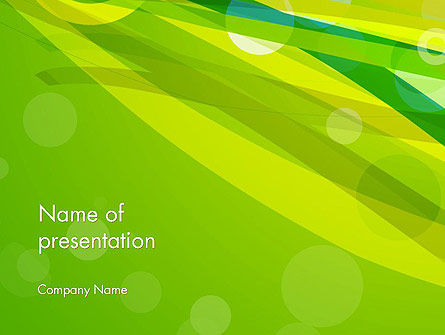 Green Mood Abstract PowerPoint Template