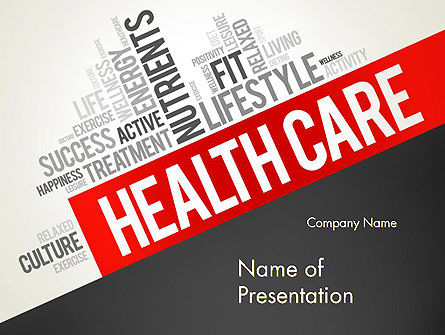 Health Care Word Cloud PowerPoint Template, 13896, Medical — PoweredTemplate.com