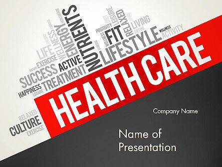 Medical: Modello PowerPoint - Word cloud assistenza sanitaria #13896
