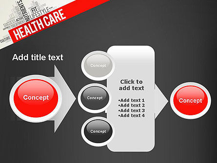 Health Care Word Cloud PowerPoint Template Slide 17
