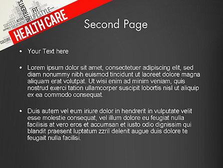 Health Care Word Cloud PowerPoint Template, Slide 2, 13896, Medical — PoweredTemplate.com