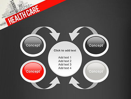 Health Care Word Cloud PowerPoint Template Slide 6