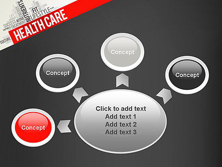 Health Care Word Cloud PowerPoint Template Slide 7
