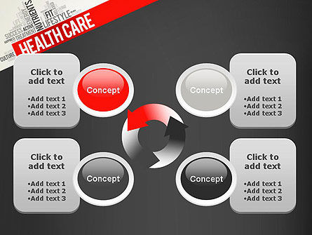 Health Care Word Cloud PowerPoint Template Slide 9