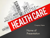 Health Care Word Cloud PowerPoint Template#1