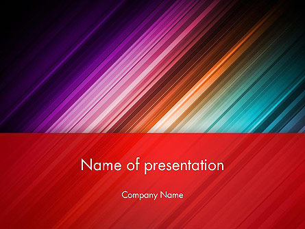 Abstract/Textures: Spectrum In Motion Abstract PowerPoint Template #13898
