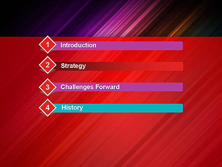 Spectrum In Motion Abstract PowerPoint Template Slide 3