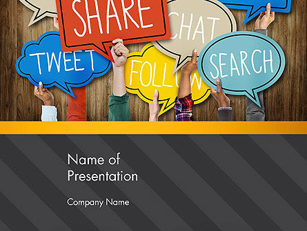Careers/Industry: Social Media PowerPoint Template #13900