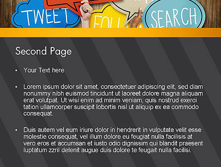 Social Media PowerPoint Template Slide 2
