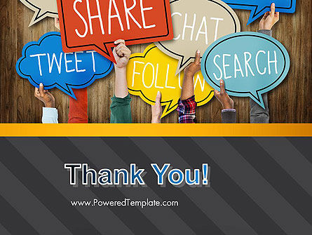 Social Media PowerPoint Template Slide 20