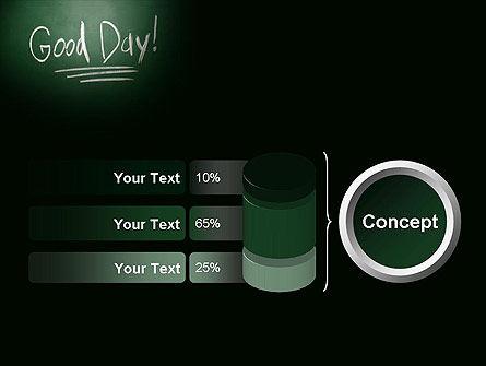 Good Day Writing On Blackboard PowerPoint Template Slide 11