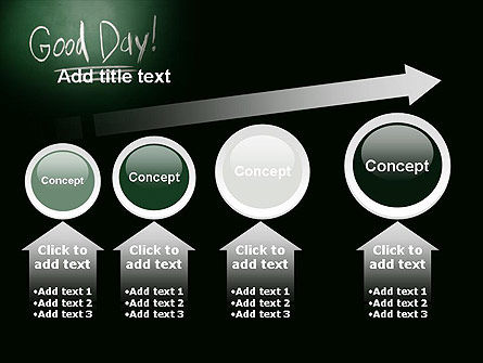 Good Day Writing On Blackboard PowerPoint Template Slide 13