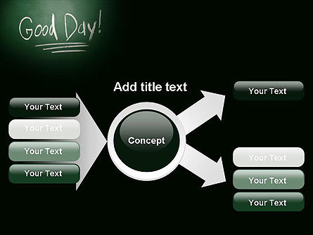 Good Day Writing On Blackboard PowerPoint Template Slide 14