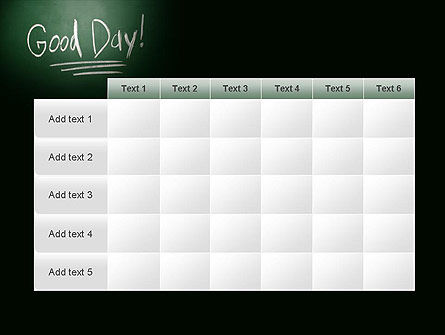 Good Day Writing On Blackboard PowerPoint Template Slide 15