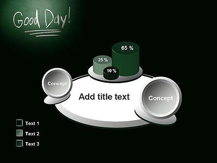 Good Day Writing On Blackboard PowerPoint Template Slide 16