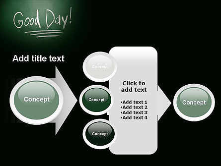 Good Day Writing On Blackboard PowerPoint Template Slide 17