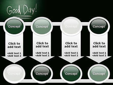 Good Day Writing On Blackboard PowerPoint Template Slide 18