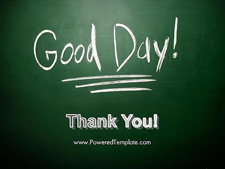Good Day Writing On Blackboard PowerPoint Template Slide 20