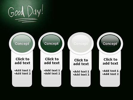 Good Day Writing On Blackboard PowerPoint Template Slide 5