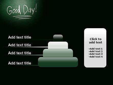 Good Day Writing On Blackboard PowerPoint Template Slide 8