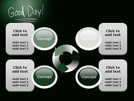 Good Day Writing On Blackboard PowerPoint Template Slide 9