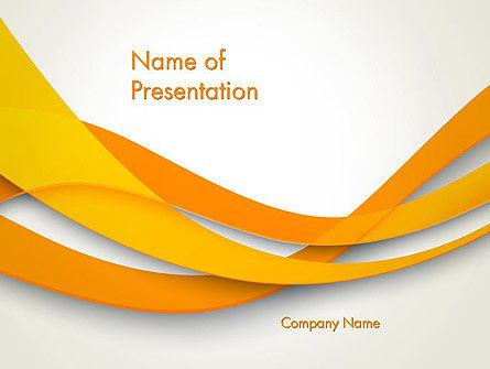 Orange Waves Abstract Powerpoint Template Backgrounds