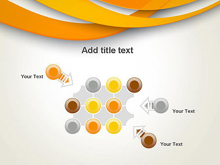 Orange Waves Abstract PowerPoint Template Slide 10