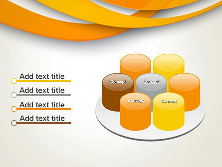 Orange Waves Abstract PowerPoint Template Slide 12