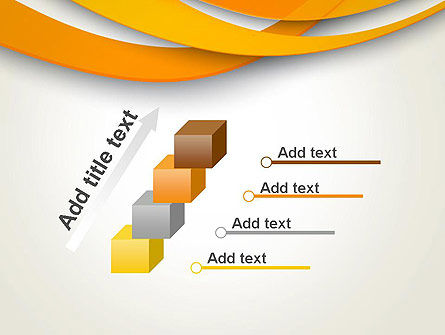 Orange Waves Abstract PowerPoint Template Slide 14