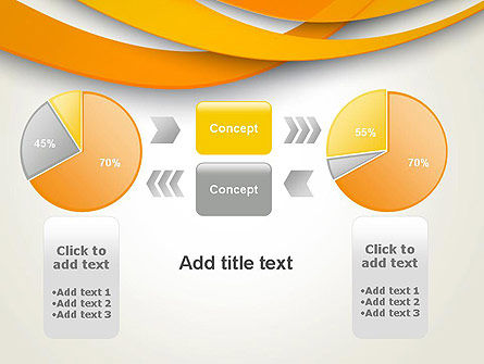 Orange Waves Abstract PowerPoint Template Slide 16