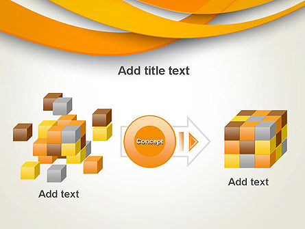 Orange Waves Abstract PowerPoint Template Slide 17