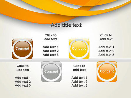 Orange Waves Abstract PowerPoint Template Slide 18