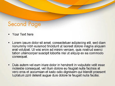 Orange Waves Abstract PowerPoint Template Slide 2