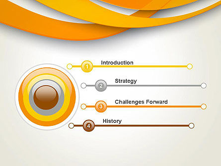 Orange Waves Abstract PowerPoint Template Slide 3