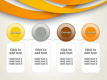 Orange Waves Abstract PowerPoint Template Slide 5