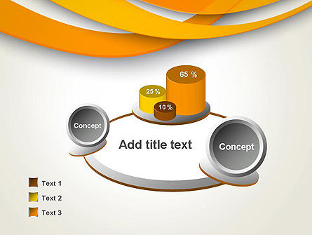 Orange Waves Abstract PowerPoint Template Slide 6
