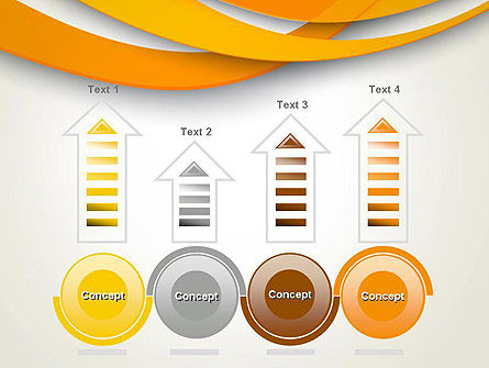 Orange Waves Abstract PowerPoint Template Slide 7