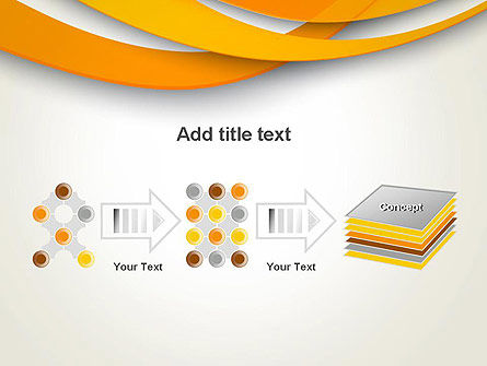Orange Waves Abstract PowerPoint Template Slide 9