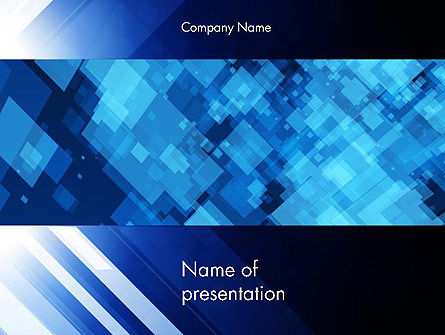 Virtual Technology Space Abstract PowerPoint Template