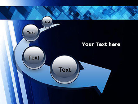 Virtual Technology Space Abstract PowerPoint Template Slide 6