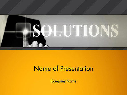 Business Concepts: Press The Solution Key PowerPoint Template #13907
